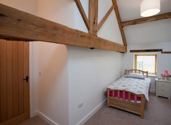 Single bedroom in the Blacksmiths Shop holiday cottage.