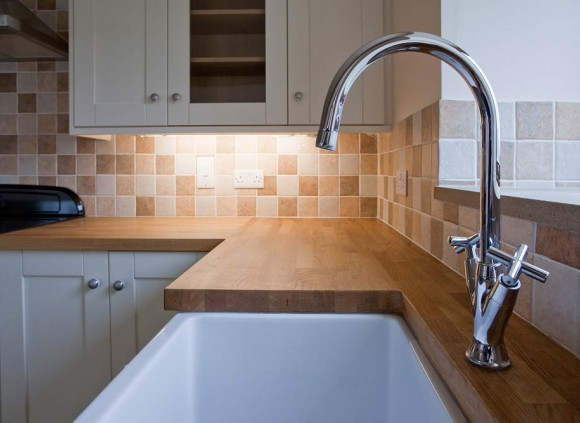A traditional Belfast sink complements the kitchen perfectly.
